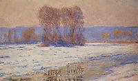The Seine at Bennecourt, Winter , 1893, monet