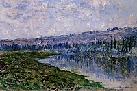 The Seine and the Chaantemesle Hills, 1880, monet