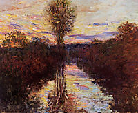 The Small Arm of the Seine at Mosseaux, Evening, 1878, monet