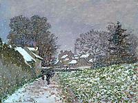 Snow at Argenteuil 02, 1874, monet