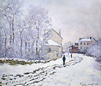 Snow at Argenteuil, 1875, monet
