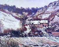 Snow Effect at Falaise, 1886, monet