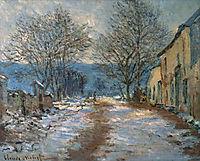Snow Effect at Limetz, 1886, monet