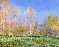 Springtime in Giverny, 1890, monet