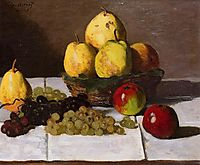 Still Life with Pears and Grapes, 1867, monet
