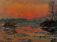 Sunset on the Seine in Winter, 1880, monet