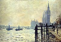 The Thames below Westminster, 1871, monet