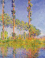 Three Trees, Autumn Effect, 1891, monet