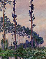 Three Trees in Grey Weather, 1891, monet