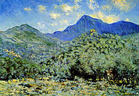 Valley Bouna near Bordighera, 1884, monet