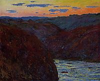 Valley of the Creuse, Sunset, 1889, monet