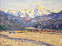 The Valley of the Nervia, 1884, monet