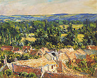 View on village of Giverny, 1886, monet