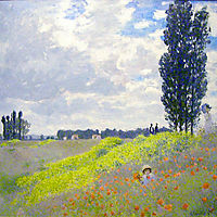 Walk in the Meadows at Argenteuil, 1873, monet