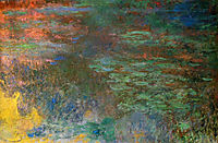 Water Lily Pond, Evening (right panel), 1926, monet