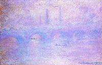 Waterloo Bridge, Fog, 1903, monet