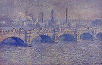Waterloo Bridge, Sunlight Effect, 1903, monet