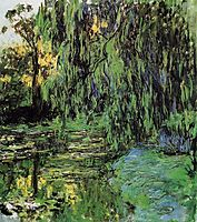 Weeping Willow and Water-Lily Pond, 1919, monet