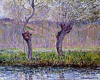 Willows in Springtime, 1885, monet