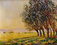 Willows at Sunset, 1889, monet