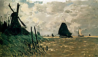 A Windmill near Zaandam, monet