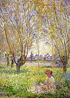 Woman Sitting under the Willows, 1880, monet