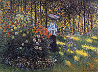 Woman with a Parasol in the Garden in Argenteuil, 1875, monet