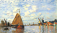 Zaan at Zaandam, 1871, monet