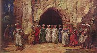 Oriental scene, 1876, monticelli