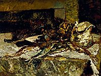 Still Life with Sardines and Sea-Urchins, 1882, monticelli