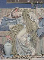 A Sleeping Girl, c.1875, moore