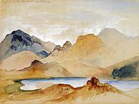 Cinnabar Mountain, Yellowstone River (watercolour), 1871, moran
