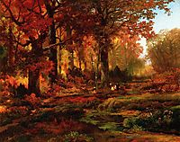 Cresheim Glen, Wissahickon, Autumn, 1864, moran