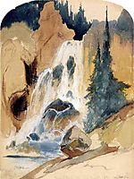 Crystal Falls (watercolour), 1871, moran