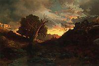 The Evening Hunter, 1867, moran