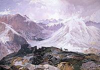 Mosquito Trail, Rocky Mountains, Colorado, 1874, moran