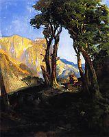 The Sacrifice of Isaac, 1868, moran