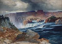 Shoshone Falls, Snake River, Idaho, 1875, moran