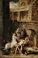 Diomedes Being Eaten by his Horses, 1865, moreau