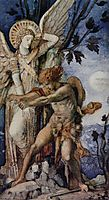 Jacob and the Angel, moreau