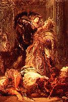 Prince Hamlet kill King Claudius, moreau