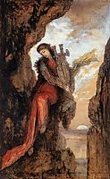 Sappho on the Cliff, c.1872, moreau