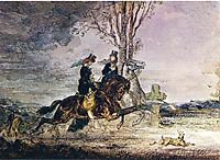 Two Modern Horsewomen, c.1852, moreau