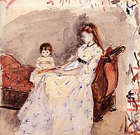 The Artist-s Sister Edma with Her Daughter Jeanne, 1872, morisot