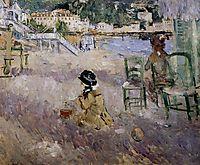 The beach at Nice, 1882, morisot
