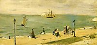The Beach at Petit Dalles (aka On the Beach), 1873, morisot