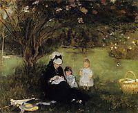 Beneath the Lilac at Maurecourt, 1874, morisot