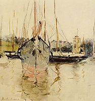 Boats Entry to the Medina in the Isle of Wight, 1875, morisot