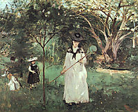 The Butterfly Chase, 1874, morisot