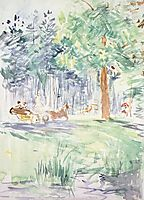 Carriage in the Bois de Boulogne, c.1889, morisot